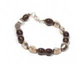 Brown Bead Bee Bracelet