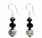 Classic Black and Silver Earrings