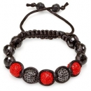 Red and Black Shamballa