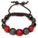 Red and Black Shamballa